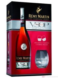 Rémy Martin Cognac VSOP Geschenkverpackung mit 2 Gläsern