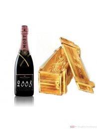 Moet & Chandon Champagner Grand Vintage Rosé 2008 Holzkiste 0,75l