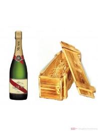 Mumm Cordon Rouge Champagner in Holzkiste geflammt 0,75 l