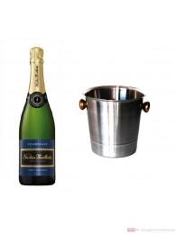 Nicolas Feuillatte Champagner Brut im Champagner Kühler 0,75l