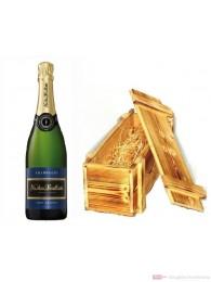 Nicolas Feuillatte Champagner Brut in Holzkiste geflammt 0,75l
