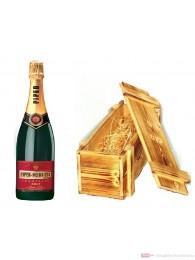 Piper Heidsieck Champagner Brut in Holzkiste geflammt 0,75l