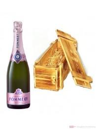 Pommery Rosé Champagner Brut in Holzkiste geflammt 0,75l