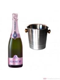 Pommery Rosé Brut Champagner im Champagner Kühler 0,75l