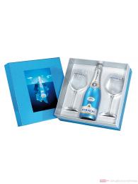 Pommery Royal Blue Sky Champagner in Geschenkpackung + 2 Gläser 0,75l
