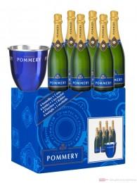 Pommery Champagner Royal Brut + 1 Kühler 6-0,75l Flasche