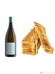 Robert Weil Riesling Qba halbtrocken Weißwein 2010 11,5% 1,0l Flasche in Holzkiste geflammt
