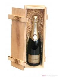 Louis Roederer Champagner Premier Brut in Holzkiste geflammt 0,75l