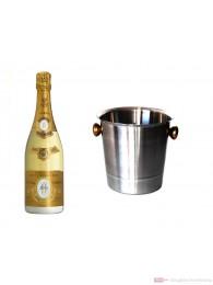Roederer Cristal 2004 Champagner im Champagner Kühler Aluminium poliert 12% 0,75l Flasche