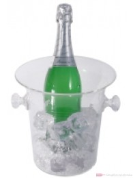 Contacto Sektkühler aus Acrylglas mit seitlichen Knopfgriffen für Sektflaschen mit max, 0,75 l Volumen 21cm