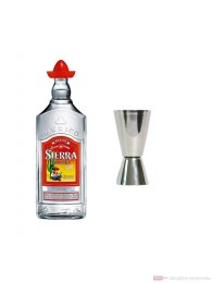 Sierra Tequila Silver 1,0 l + Messbercher