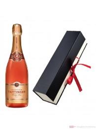 Taittinger Rosé Champagner in Geschenkfaltschachtel 0,75l