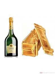 Taittinger Champagner Comtes de Champagne Blanc de Blanc 1999 in Holzkiste geflammt 12 % 0,75 l. Flasche