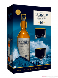 Talisker 10 years in GP mit 2 Gläsern Single Malt Scotch Whisky 0,7l