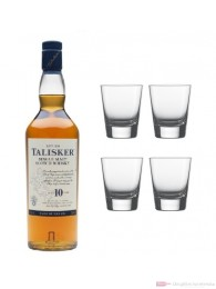 Talisker 10 years Single Malt Scotch Whisky 0,7l + 4 Whisky Tumbler