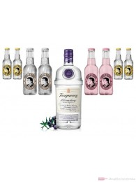 Tanqueray Bloomsbury Gin 1,0l Flasche Tonic Water Mix Pack