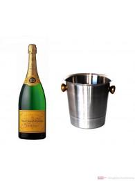 Veuve Clicquot Champagner Brut im Kühler 0,75 l.