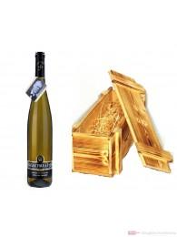 Wegler Gutshaus Oestrich Geheimrat J Riesling Spätlese trocken Weißwein 2007 12,5% 0,75l Flasche in Holzkiste geflammt
