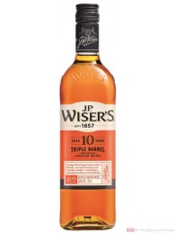J.P. Wisers 10 Years Triple Barrel Blended Canadian Whisky 0,7l