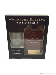 Woodford Reserve + Glas Bourbon Whiskey 0,7l