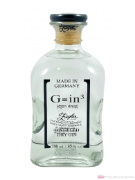G=in³ Ziegler distilled dry Gin 0,7l