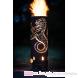 Talisker Whisky Feuertonne groß circa 100 cm Rückansicht