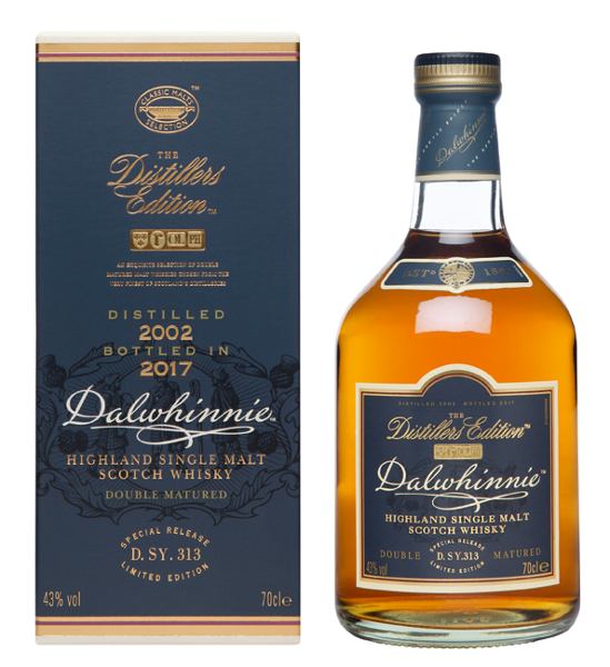 Single Malt Scotch Whisky der Marke Dalwhinnie Distillers Edition 2002/2017 43% 0,7l Flasche