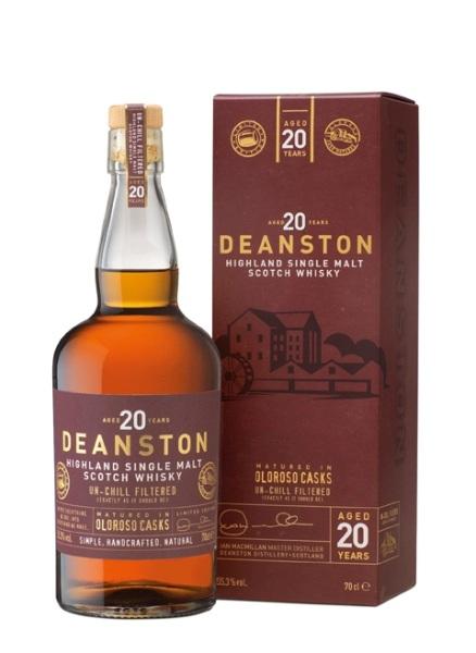 Single Malt Scotch Whisky der Marke Deanston 20 Years 55,3% 0,7l Flasche