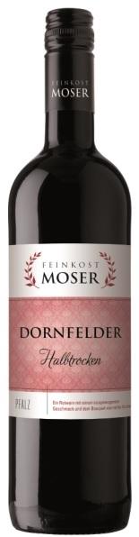 Wein der Marke Feinkost Moser Dornfelder QbA halbtrocken 11,5% 0,75l Flasche