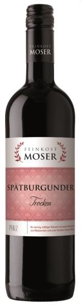 Wein der Marke Feinkost Moser Spätburgunder QbA trocken Rotwein 11,5% 0,75L Flasche
