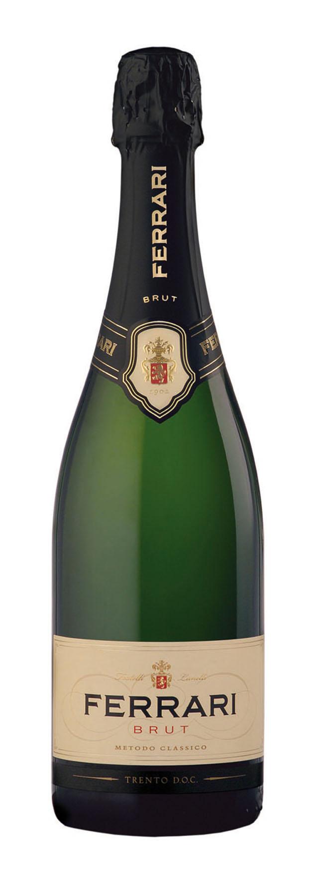 Sekt der Marke Ferrari Brut 12% 6-0,75l Flaschen
