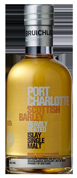 Single Malt Scotch Whisky der Marke Bruichladdich Port Charlotte Scottish Barley 50% 0,2l Flasche