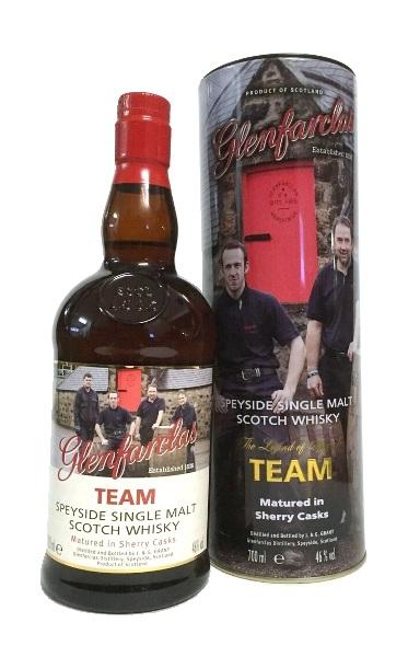 Single Malt Scotch Whisky der Marke Glenfarclas Team 46% 0,7l Flasche