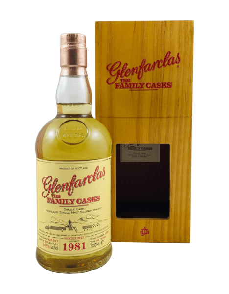 Single Malt Scotch Whisky der Marke Glenfarclas The Family Casks Single Cask 54,6% 0,7l Flasche