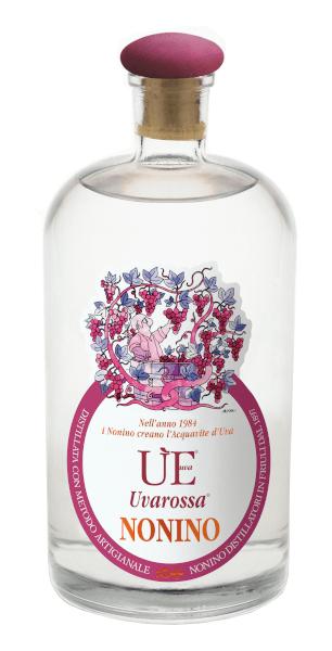 Acquavite der Marke Nonino Uvarossa 38% 0,7l Flasche