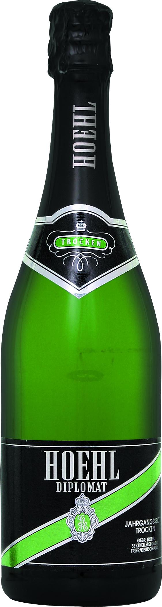 Sekt der Marke Hoehl Diplomat Trocken 10,5% 6-0,75l Flasche