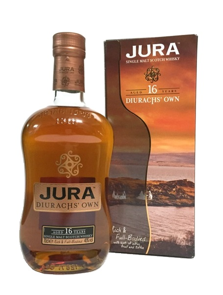 Single Malt Scotch Whisky der Marke Isle of Jura 16 Jahre 40% 0,7l Flasche
