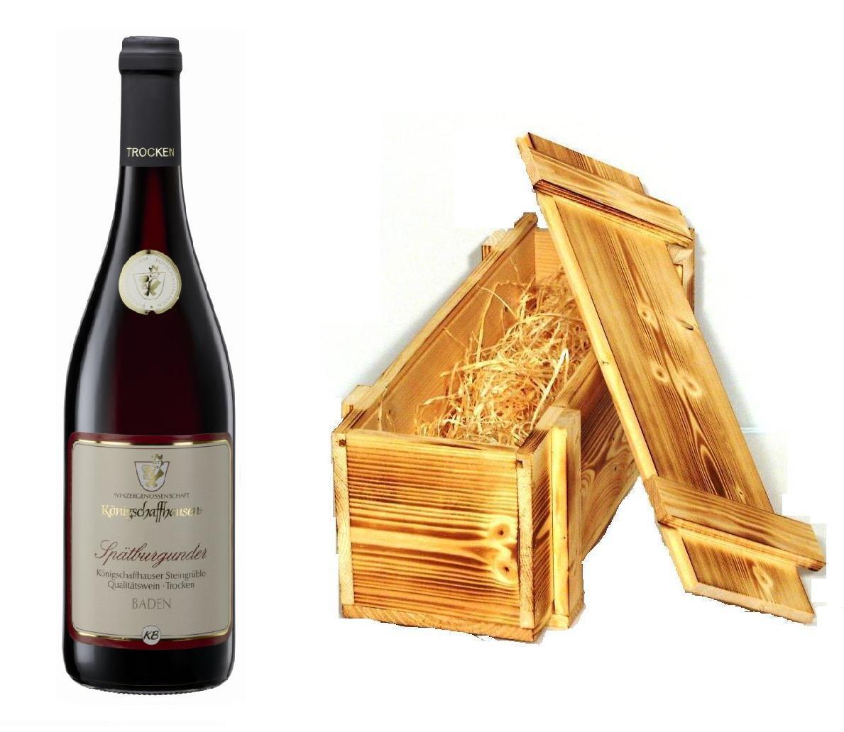 Wein der Marke Königschaffhausen Spätburgunder Steingrüble tr. 2015 13% 0,75l Flasche in Holzkiste