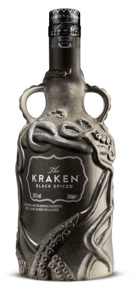 Spirituose The Kraken Black Spiced Ceramic matt schwarze Edition 2019 40% 0,7l Flasche