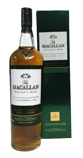 Single Malt Whisky der Marke The Macallan Select Oak 1824 40% 1,0l Flasche