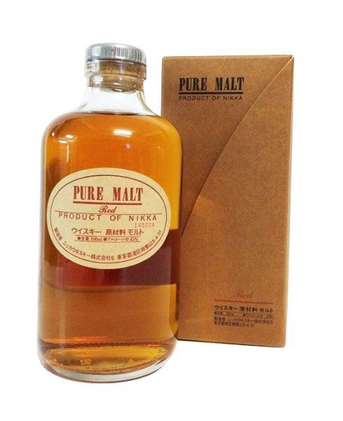 Japanese Whisky der Marke Nikka Pure Malt Red 43% 0,5l Flasche