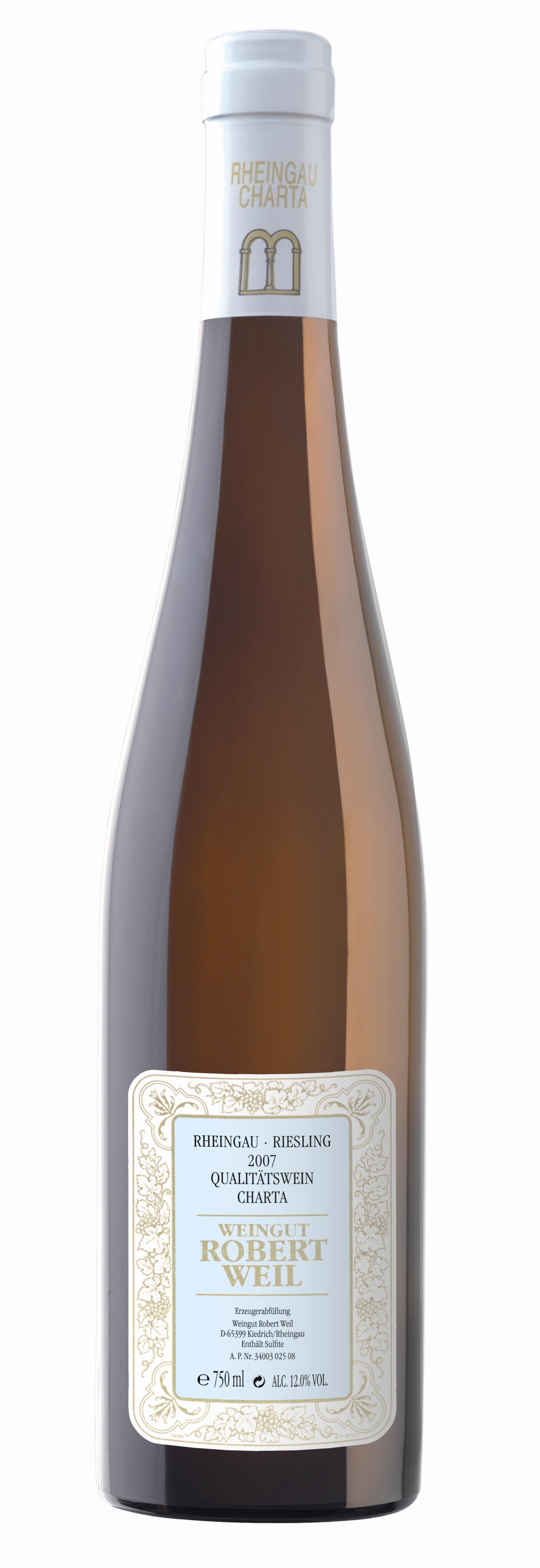 Wein der Marke Robert Weil Riesling Charta Qba trocken Weißwein 2010 12% 0,75l Flasche