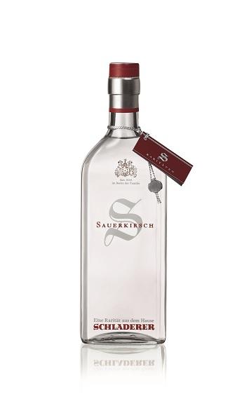 Sauerkirsch der Marke Schladerer 42% 0,7l Flasche