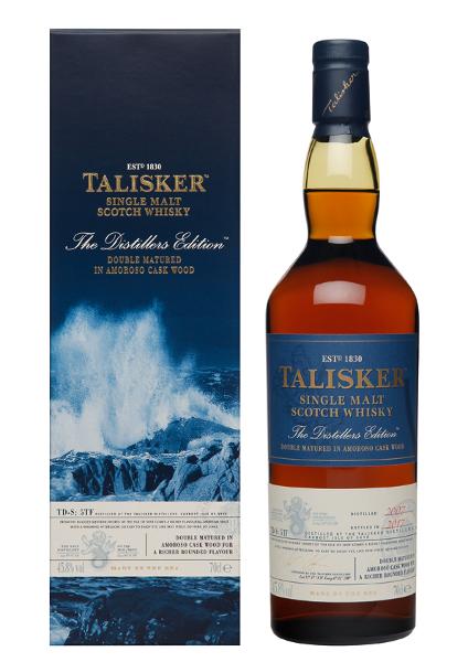 Single Malt Scotch Whisky der Marke Talisker Distillers Edition Skye 45,8% 0,7l Flasche