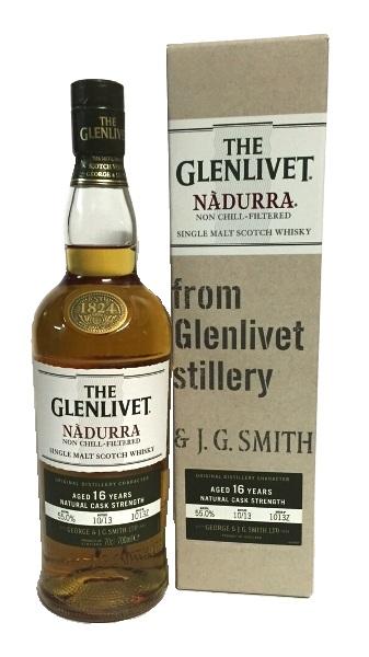 Single Malt Scotch Whisky der Marke The Glenlivet Nadurra 16 Jahre Speyside 56,1% 0,7l Fl.