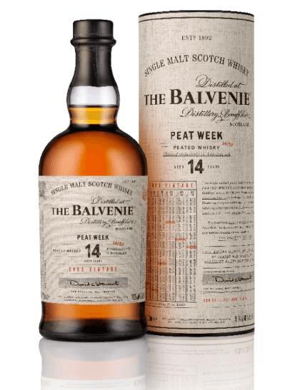 Single Malt Scotch Whisky der Marke Balvenie 14 Years Peat Week 48,3% 0,7l Flasche