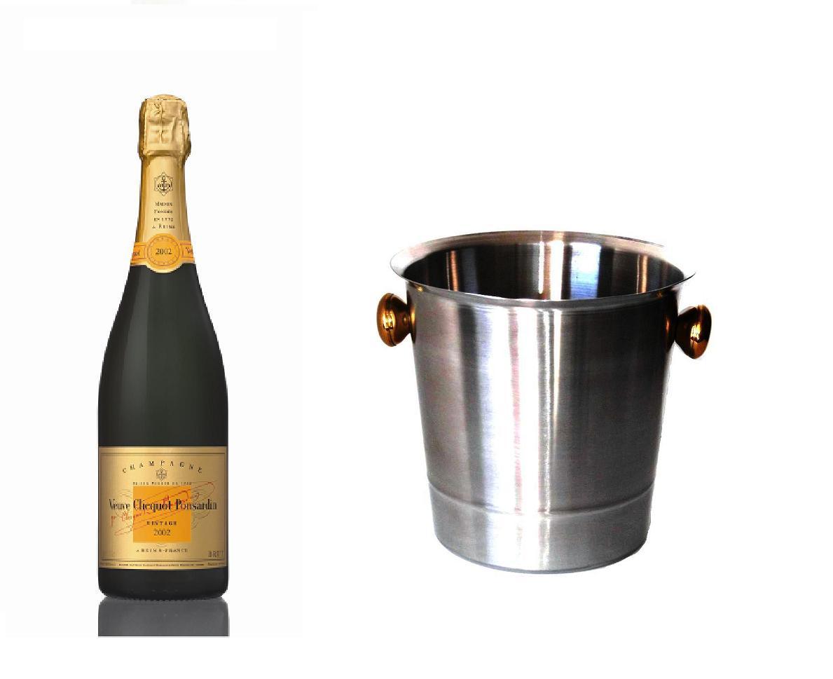Champagner der Marke Veuve Clicquot Vintage im Kühler 12% 0,75 l Flasche